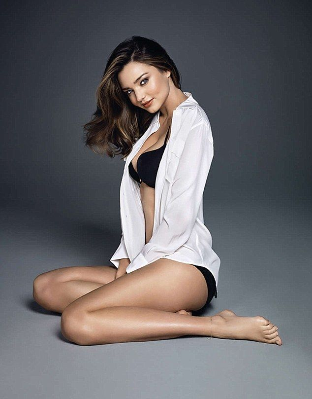 4a582e7843 Miranda Kerr strips down to black and nude lingerie