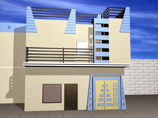 5 marla Beatiful House Front Design In Pakistan ...