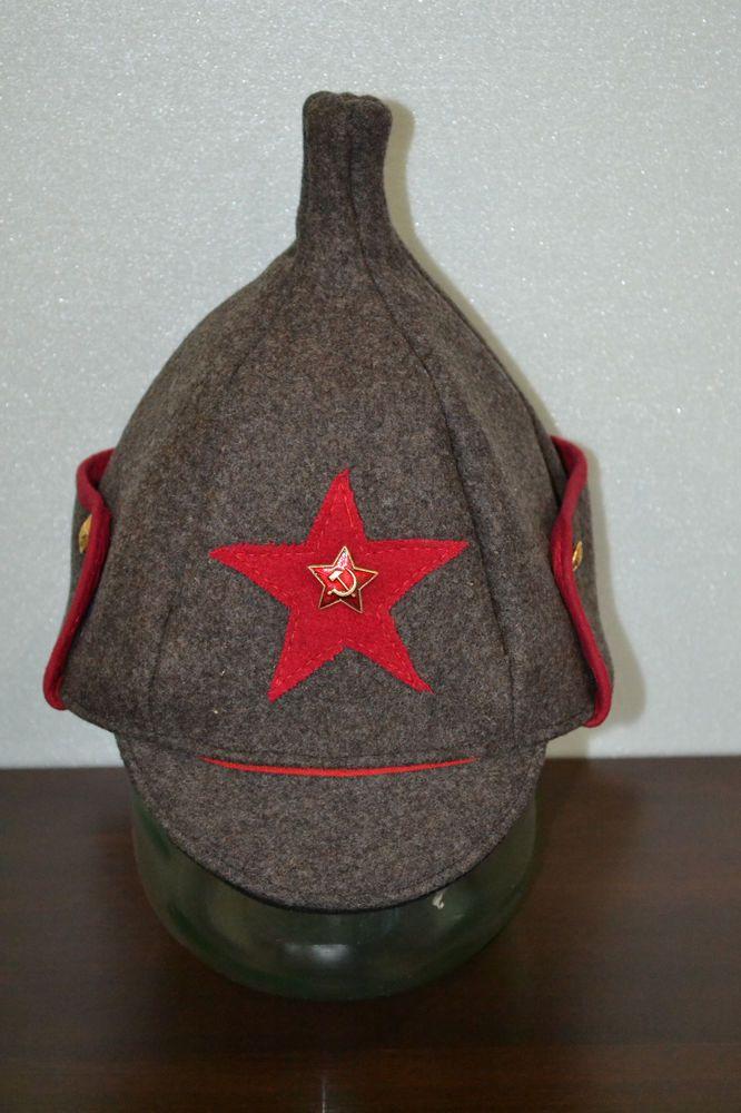 7e86c7823 Budenovka Red Army Communist Uniform Hat Ushanka USSR Red Star ...
