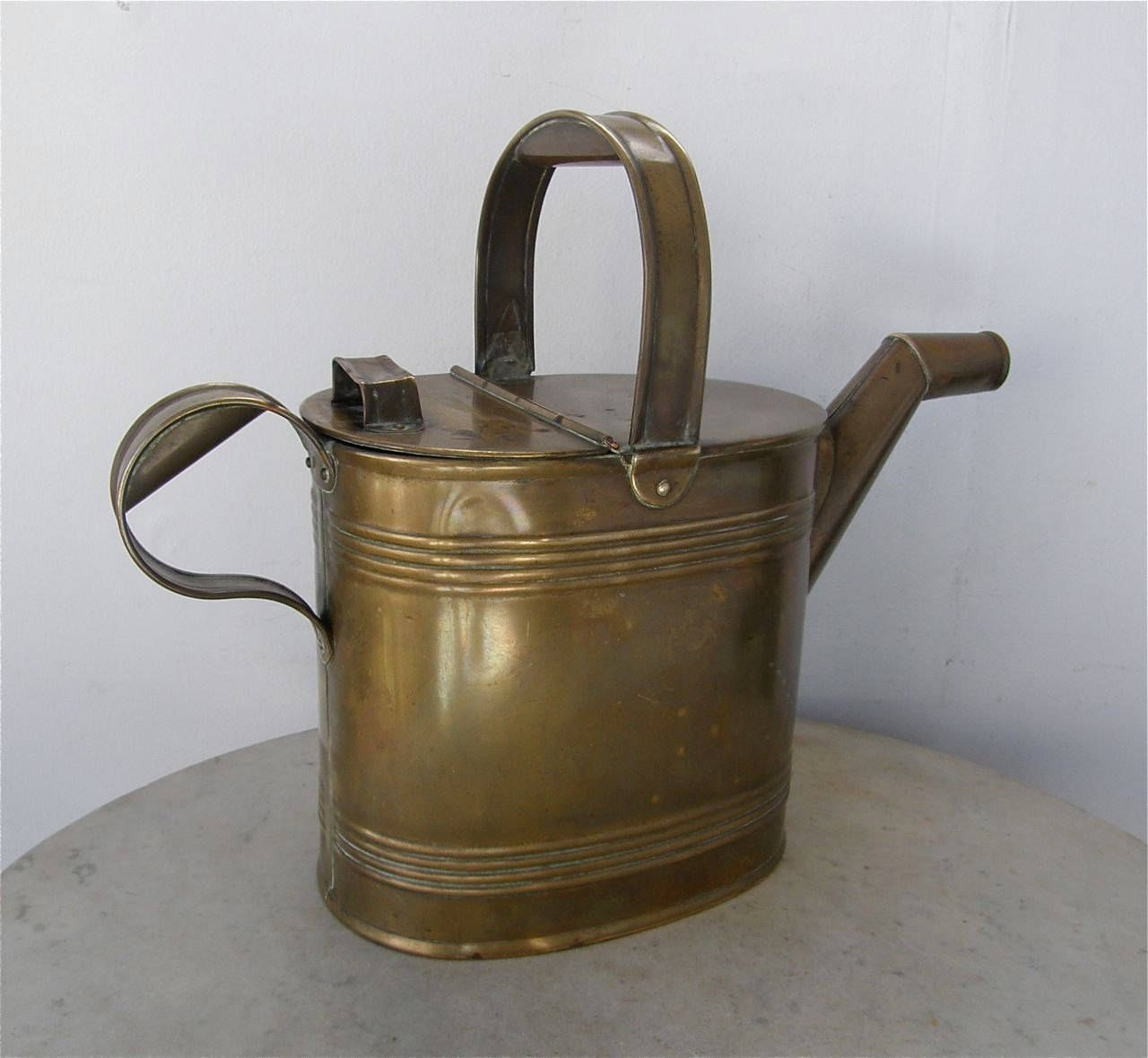 BRASS WATERING CAN 6 Pints Originally for Hot Bath Water Now for ...