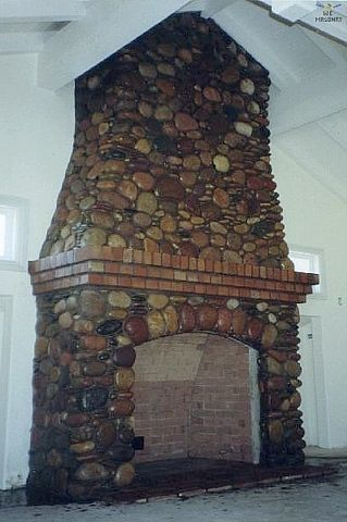 Stone Fireplaces Designs Large River Rock Stone