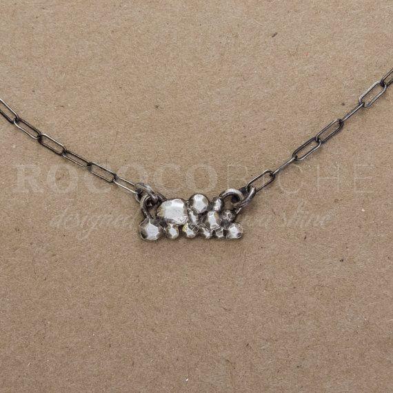 Silver Lining Pendant Necklace, Original Handmade Design in Argentium 935 Sterling Silver
