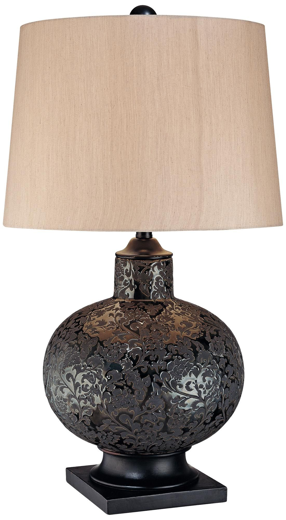 Pot Table Lamps Ambience Collection Bronze Lace Pot Table Lamp 161 For