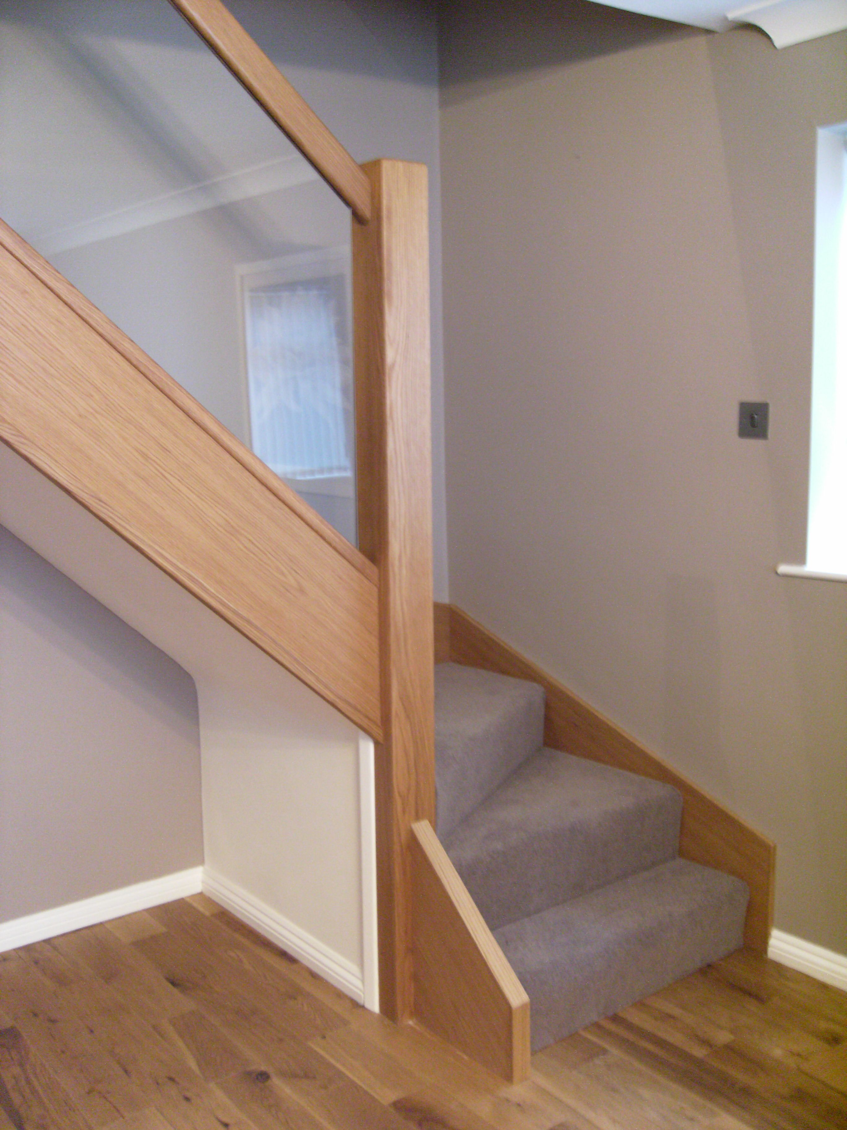 Best Oak And Glass Stair Renovation Glass Staircase Interior 640 x 480