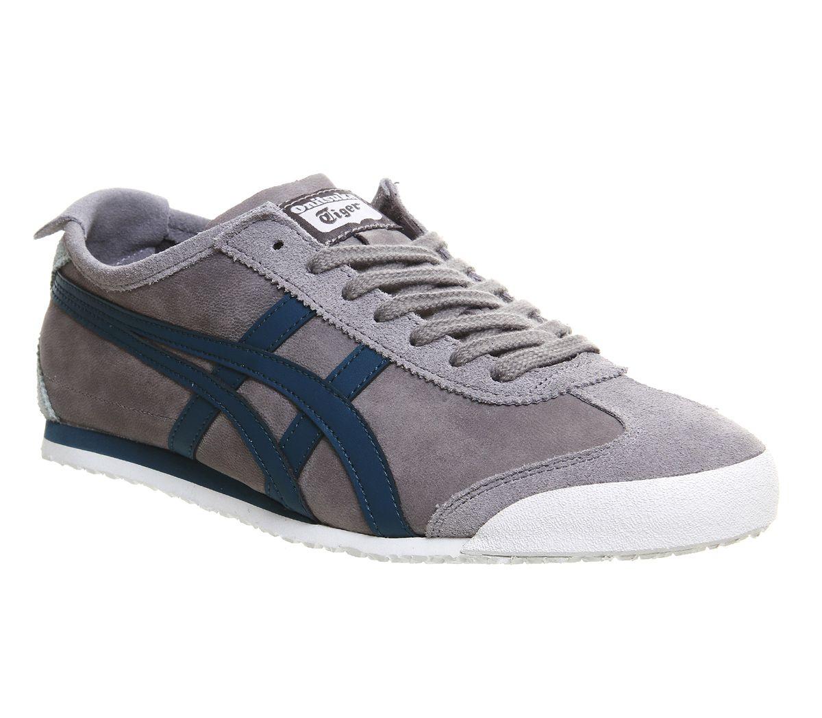 onitsuka tiger mexico 66 black blue uk grey leather