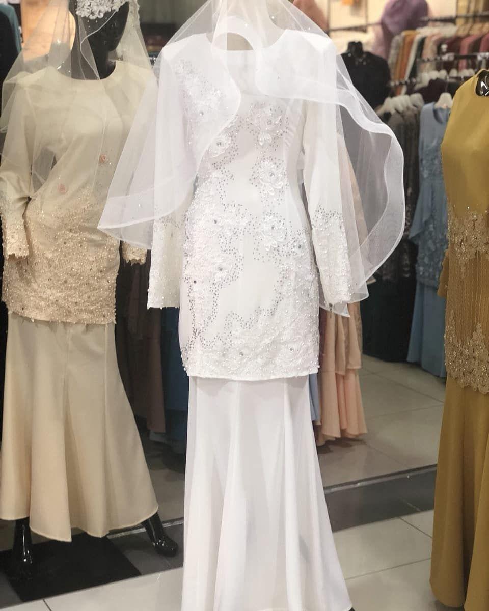 Baju Nikah Putih Exclusive Baju Nikah Putih In 2019 Baju Nikah