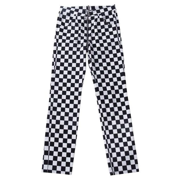 New Ladies Gingham Check Black /& White Leggings S-M New with tags