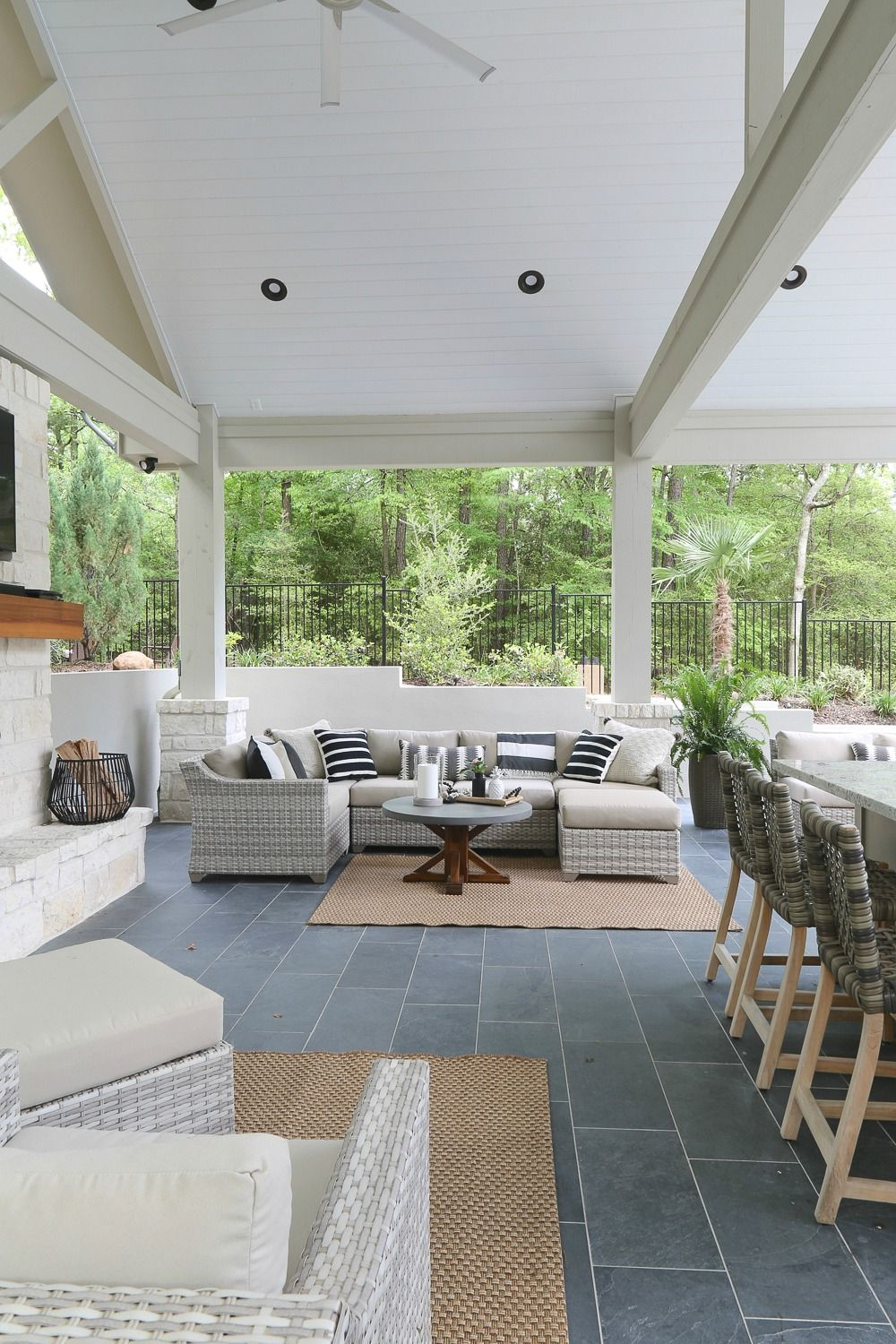 Outdoor kitchen and pool house project reveal pool houses house