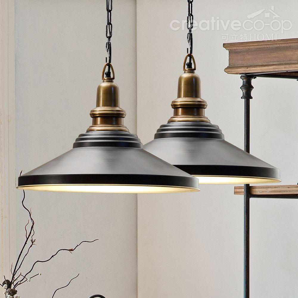 Creative Industrial Lamps - Black metal retro pendant lamps creative co op home