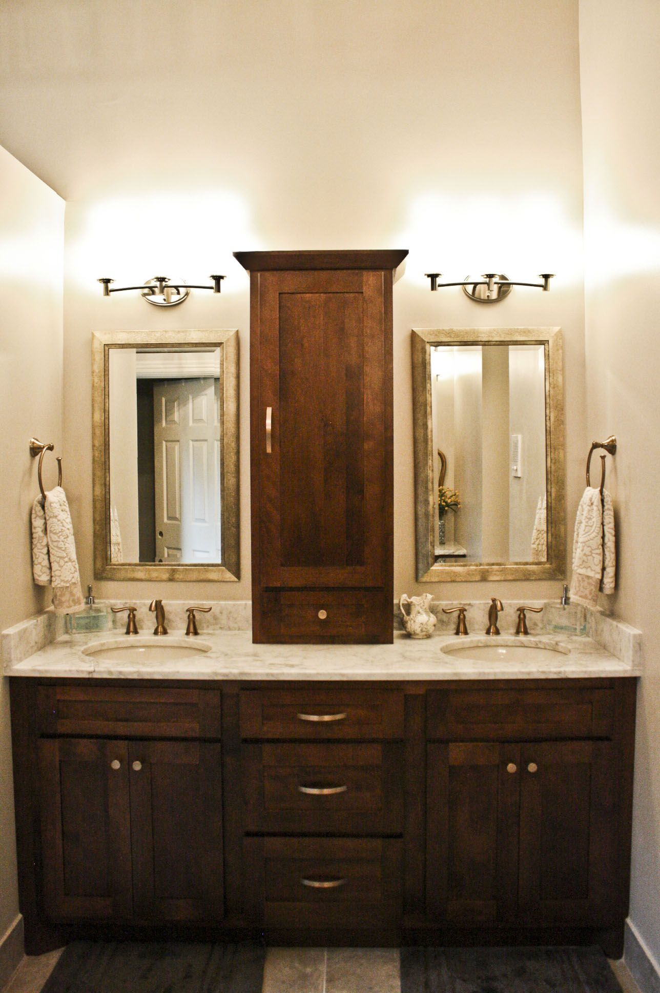 Koch Classic cabinetry. Seneca raised panel door style. Mocha ...