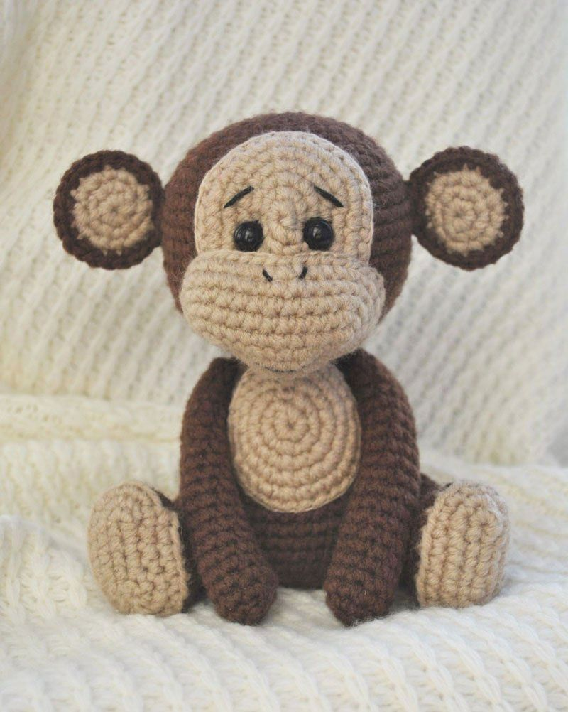 Patrón libre de amigurumi del mono travieso | amigurumis | Pinterest ...