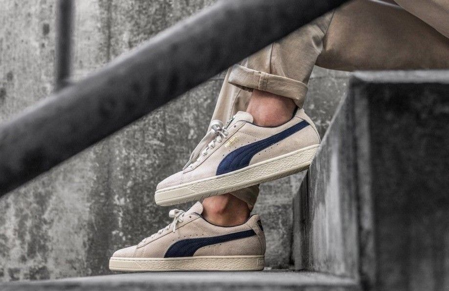 PUMA SUEDE CLASSIC ARCHIVE BIRCH & PEACOAT SNEAKERS IN ALL