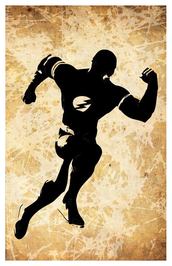 Justice League superhero poster set of 5, Flash, Superman, Green ...