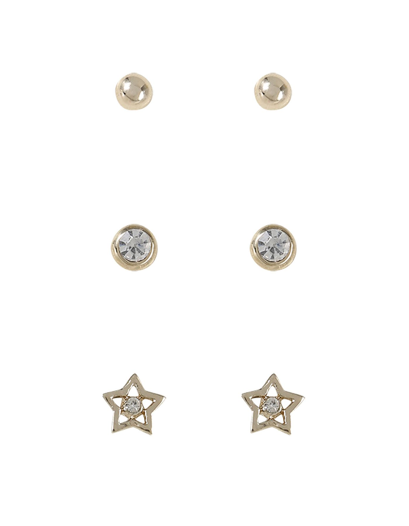 3 Pack Assorted Studs | Women | George at ASDA