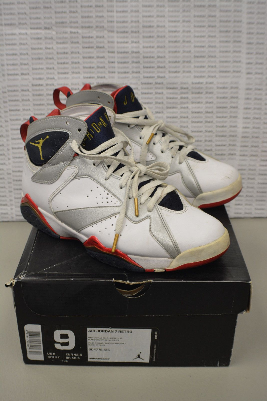 44fa4a0b6e72c8 2012 Nike Air Jordan Retro 7 Olympic 304775 135 Size 9 Beaters Projects  Hoopers