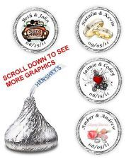 PERSONALIZED KISSES WEDDING BRIDAL SHOWER HERSHEY FAVORS PARTY SUPPLIES STICKERS from Ebay $3.95 for 108