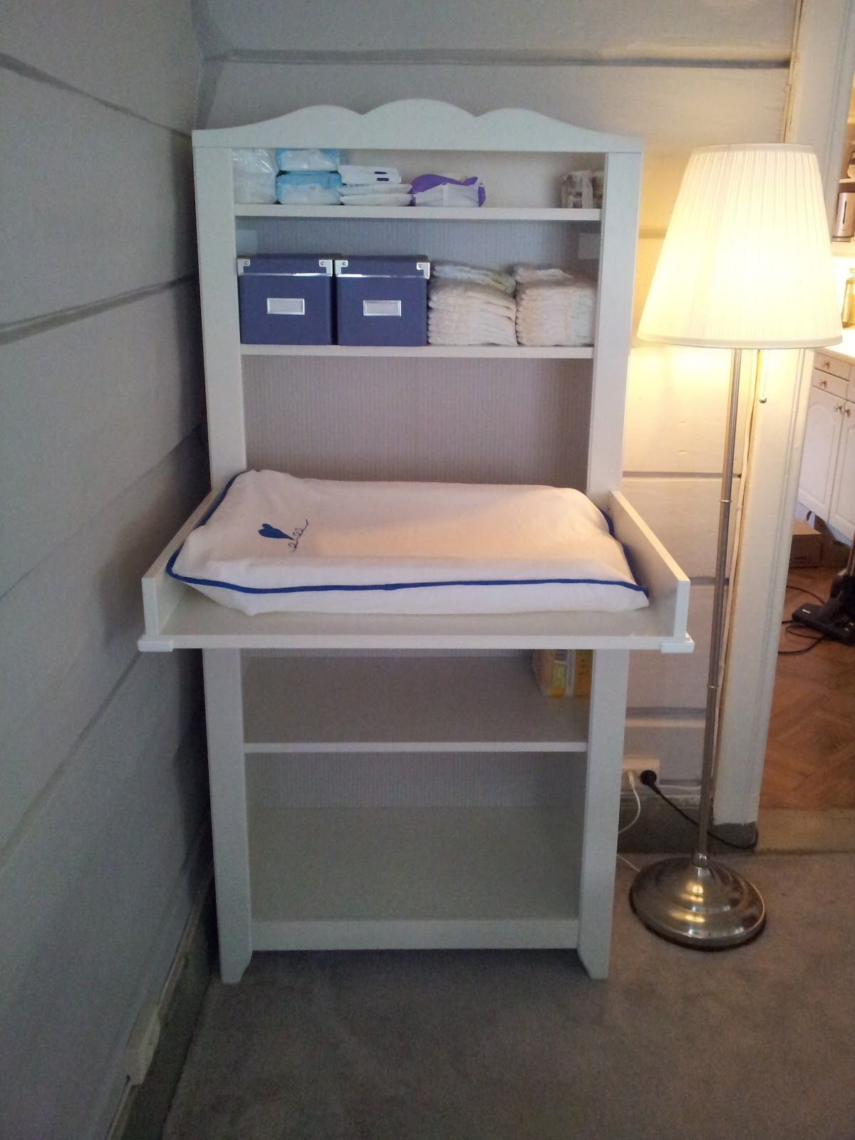 Hensvik ikea stellebord upper shelf installed with - Table a langer hensvik ...