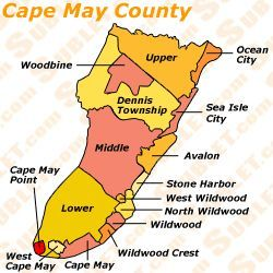 Cape May County, New Jersey - Bing Images#Repin By:Pinterest++ for Cape May Nj Map on