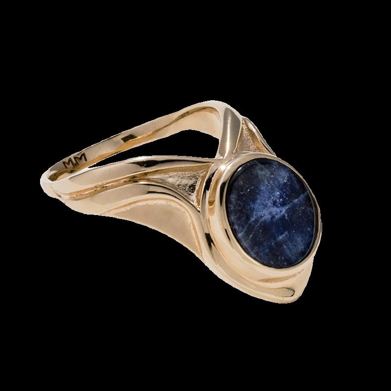 Yellow Gold and Lapis Lazuli Ring