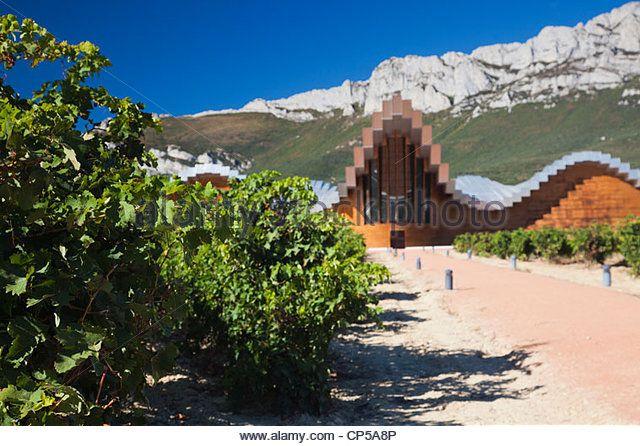 Spain, Basque Country Region, La Rioja Area, Alava Province, Laguardia, Bodegas Ysios winery - Stock Image