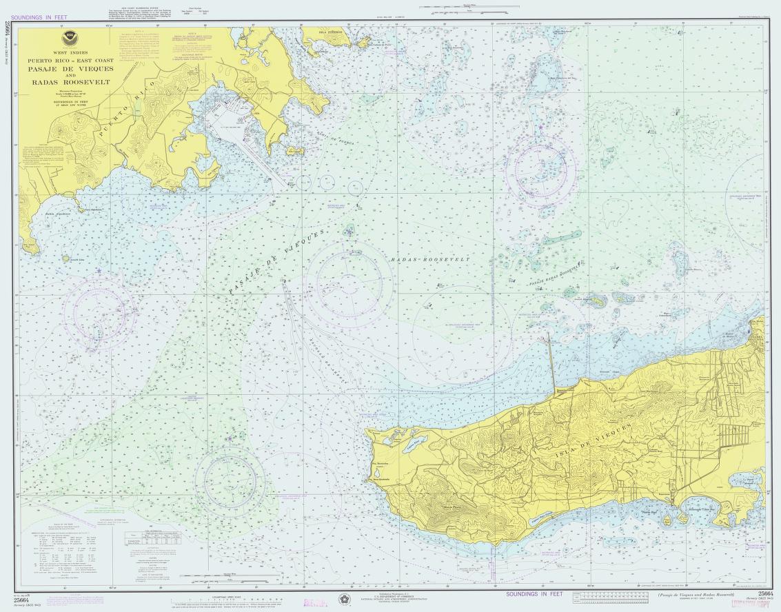 Noaa Chart 25664 1976 Nautical Chart Wikipedia Nautical Chart Map Chart