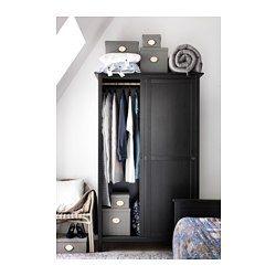 Fabulous HEMNES Kleiderschrank mit Schiebet ren schwarzbraun IKEA