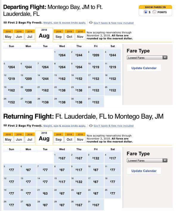 Low Fares to Jamaica in August  #lowcostairfare #mbj #traveltojamaica #fll #travelcostfriendly #roundtripticket #jamaica