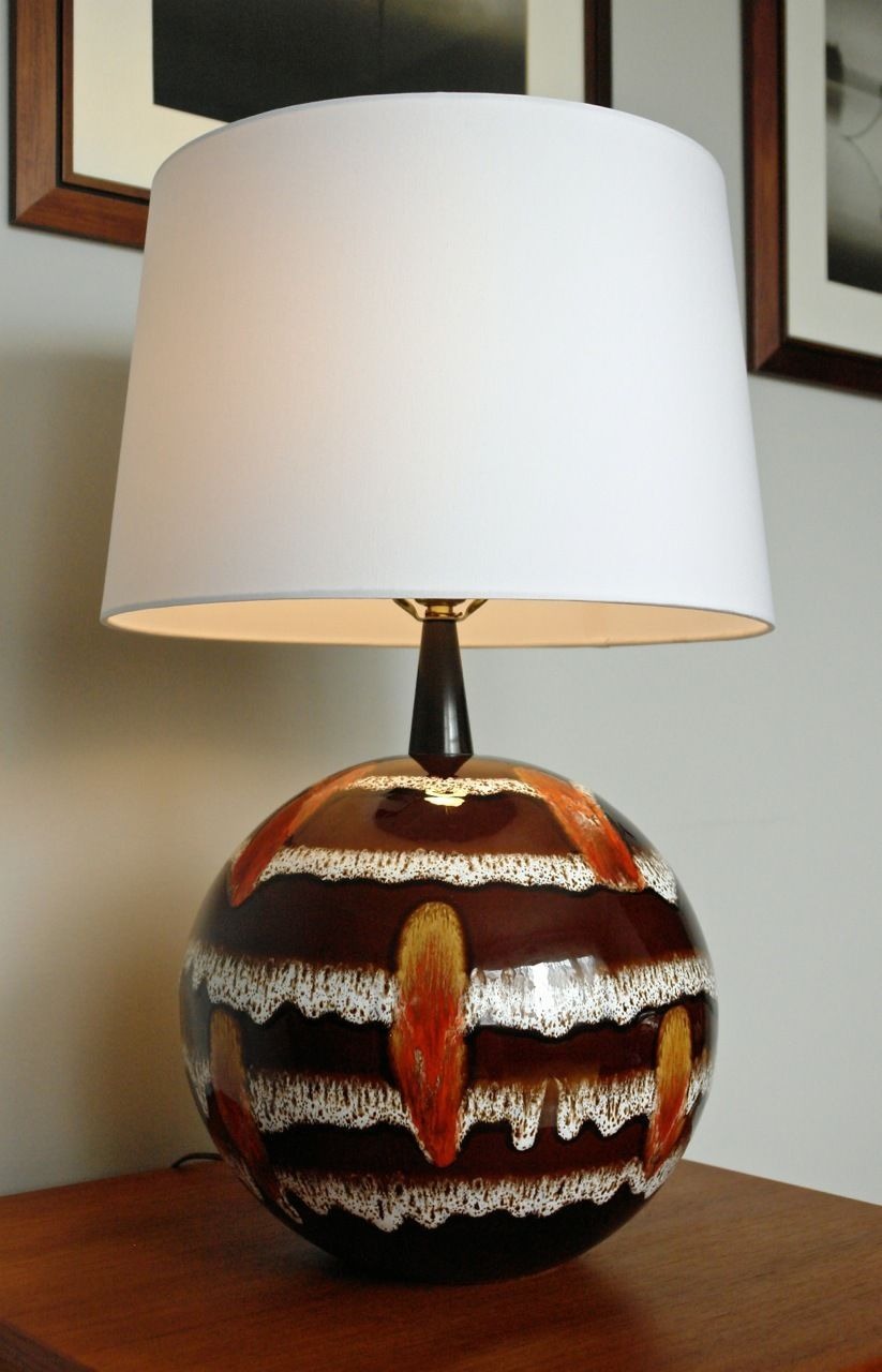 Nice Lamps really nice version of a globe table lampmaurice chalvignac