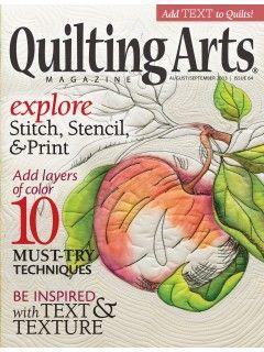 Quilting Arts Magazine ~ August/September ~2013~ from ... : quilt art magazine - Adamdwight.com