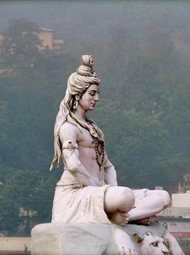 Lord Shiva in deep meditation