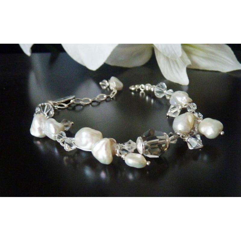 Brautschmuck perlen ivory  Brautschmuck Perlen Armband Ornara Design ivory | wedding - bridal ...