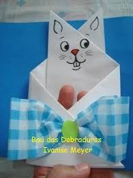 Resultado de imagem para coelhos de  dobradura