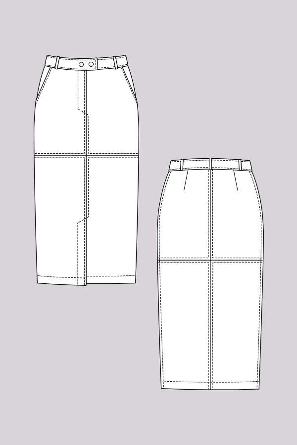 Polly Straight Skirt