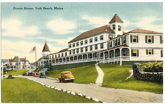 Vintage Maine Postcard Ocean House York Beach By Vintageplum