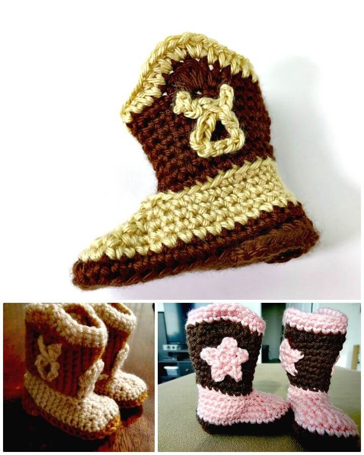 7 Free Crochet Cowboy Boots Patterns Crochet Pinterest Crochet