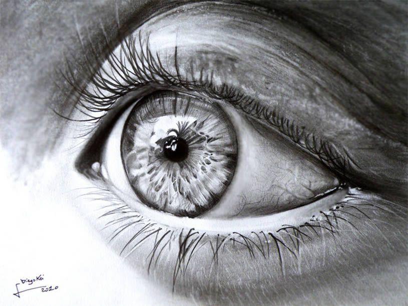 Realistic Eye drawing by DiegoKoi