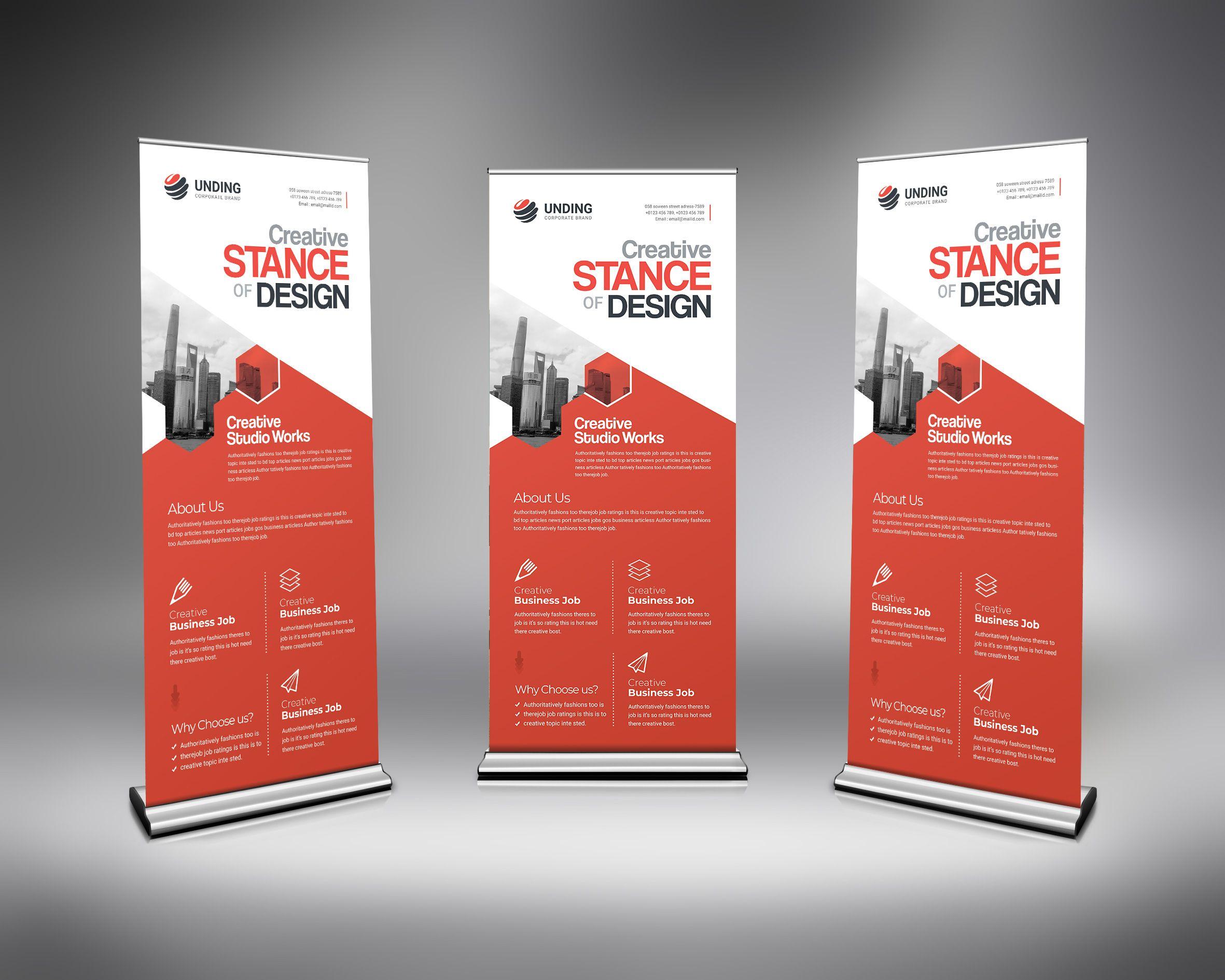 Psd Creative Pull Up Banner 5 99 Advertisement Advertising Bannerdesigninspiration Bannerstand B Banner Design Inspiration Roll Up Design Banner Template