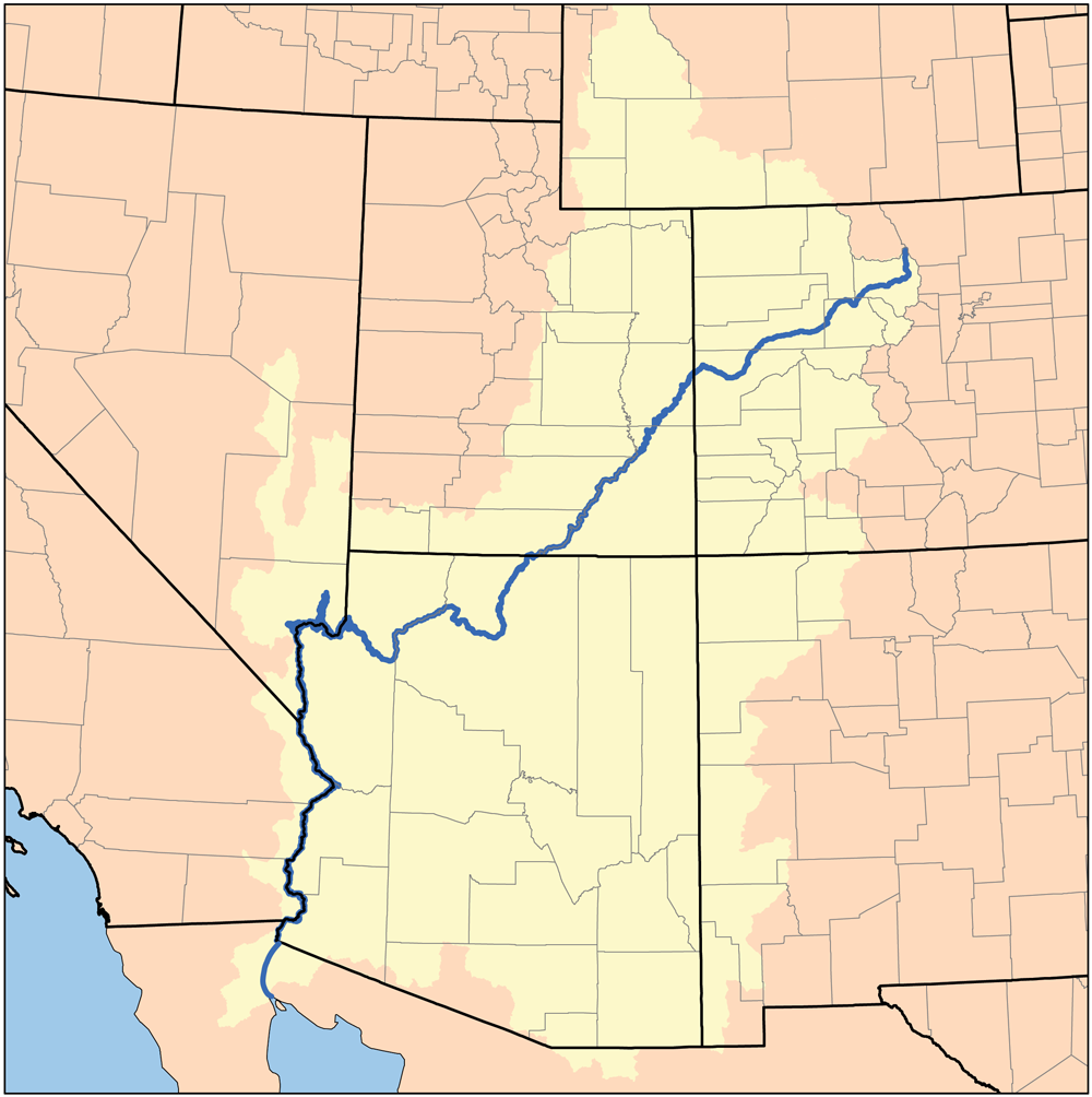 Colorado River Us Map Arizona Map - Calorado river us map