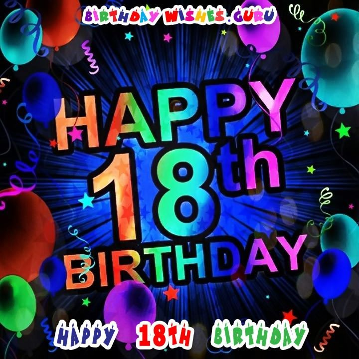 Happy 18th Birthday Birthday Wishes For An 18 Year Old With