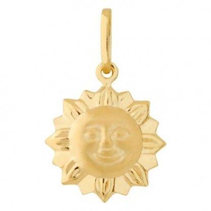 Pingente De Sol, em Ouro 18k 750