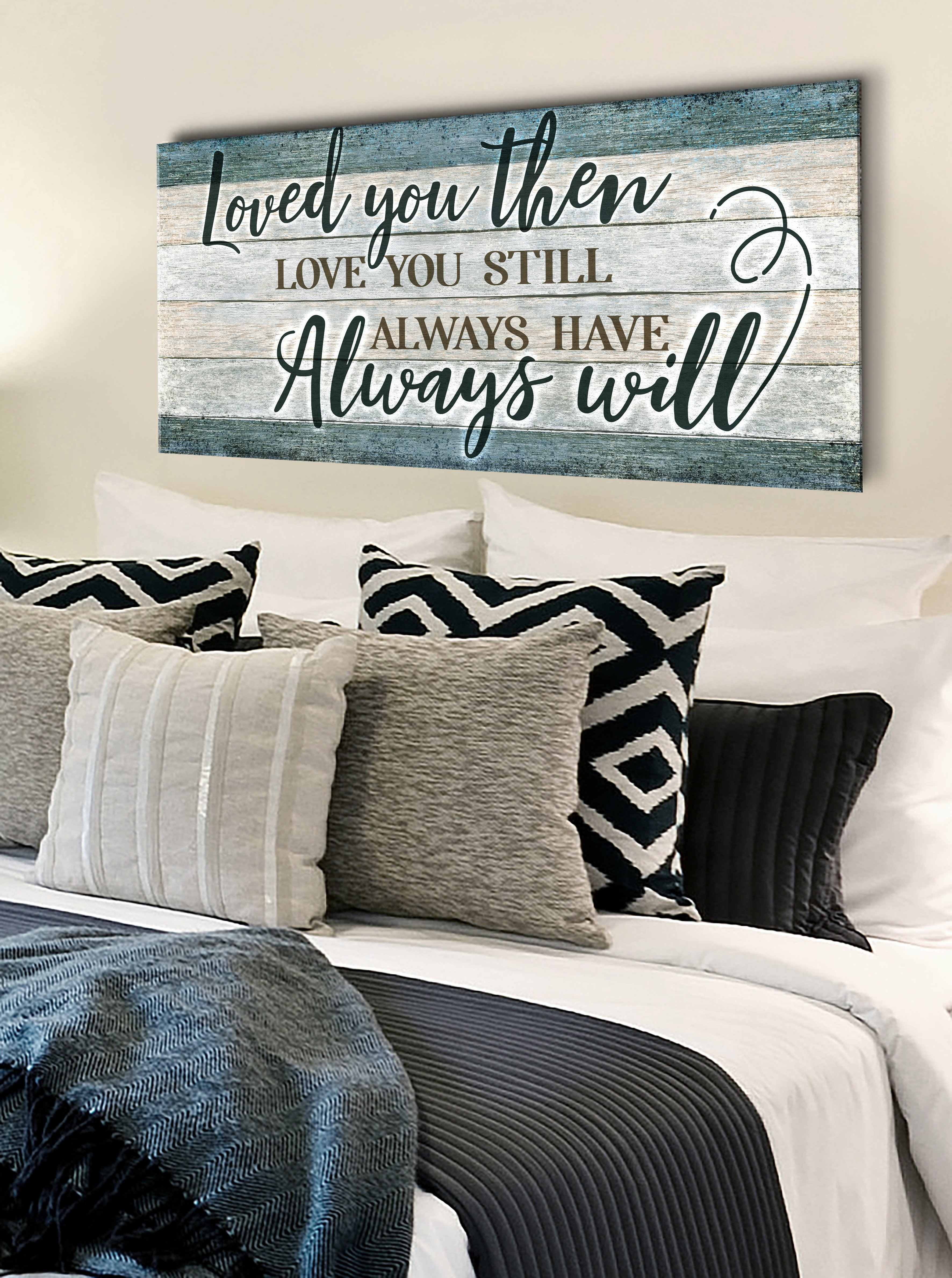 Couples Wall Art Loved You Then Love You Still V7 (Wood