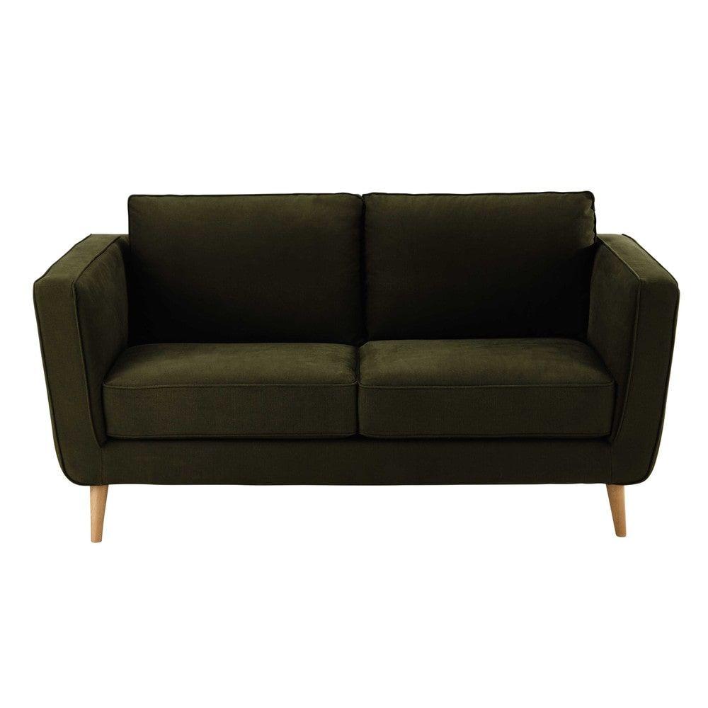 23 seater kendo fabric sofa in khaki nils maisons du monde