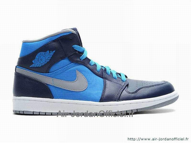 wholesale dealer 7e604 6d6f5 Air Jordan 1 AJ1 Phat - Chaussures Officiel Jordan Pour Homme Bleu Blanc  364770-405 jordanfemme5566