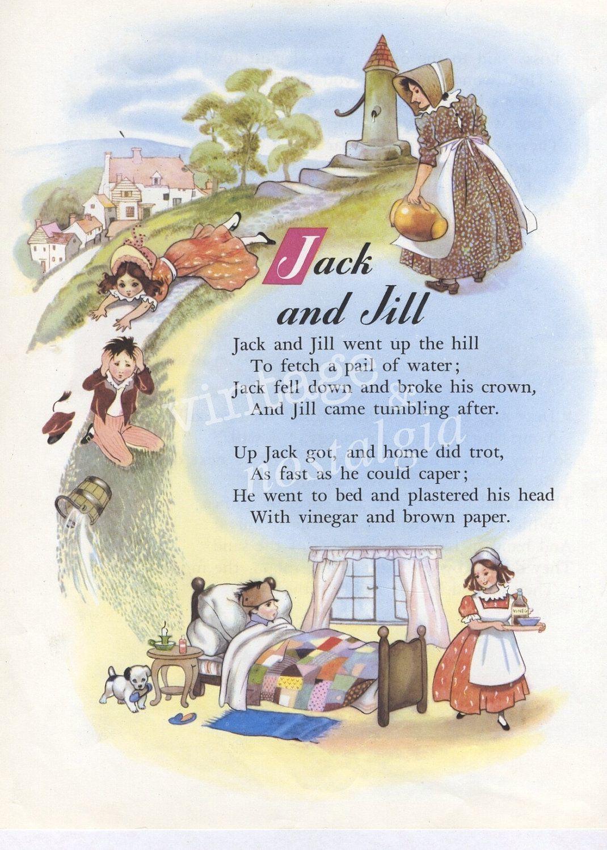 Nursery Rhyme Print Jack And Jill