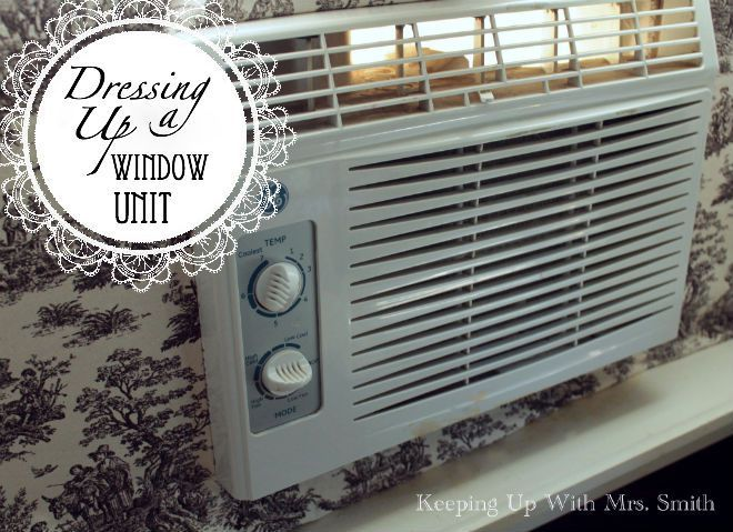 Jazz Up Your Window A C Unit With A Fabric Frame Diy Http Www Diyscoop Com Jazz Up Your Window Ac U Window Unit Window Ac Unit Air Conditioner Cover Indoor