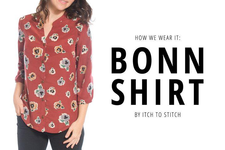 Bonn Shirt Sewing Pattern by Itch to Stitch | patterns | Pinterest