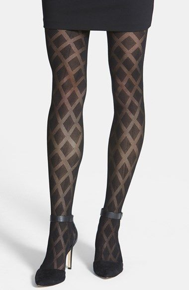 efee14fa6ea0a Free shipping and returns on Vince Camuto Sheer Diamond Pattern Tights at  Nordstrom.com. Opaque diamonds punctuate sheer tights for a bold, ...