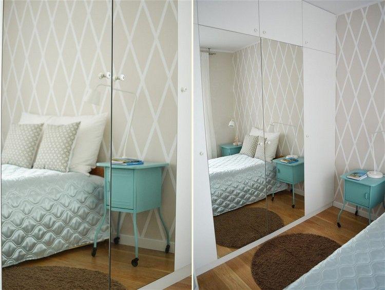 Wand Streichen Muster Ideen Schlafzimmer Ecru Weiss