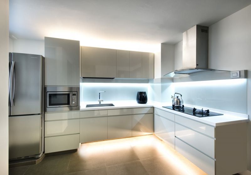Interior Design for Singapore Condo: This is what a kitchen looks like after renovation was done.  Click image to see what else our interior designers did.