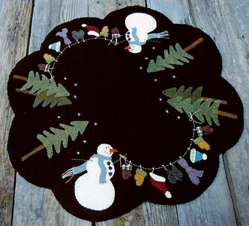 image result for small christmas tree skirt patterns wool applique rustic christmas trees natural christmas - Small Christmas Tree Skirt